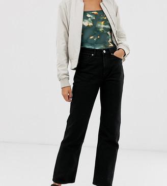 Monki Imko straight leg jeans with organic cotton in black