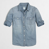 J.Crew Factory Petite classic chambray shirt in perfect fit