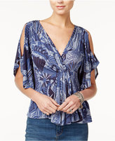 Free People Amour Printed Cutout Top