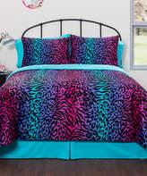 Idea Nuova Mink Ombré Animal Print Comforter Set