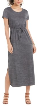 Style&Co. Style & Co Textured Drawstring Maxi Dress, Created for Macy's
