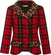 Michael Kors Leopard Trim Jacket