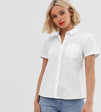 New Look Short Sleeve Work Shirt-White