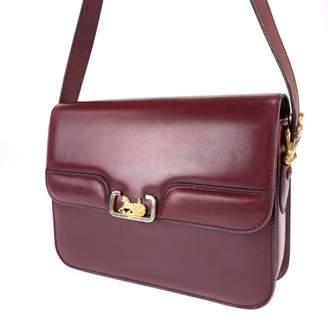 Celine Burgundy Leather Handbags