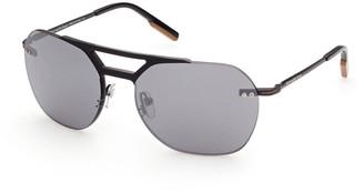 Ermenegildo Zegna Men's Rimless Metal Aviator Sunglasses