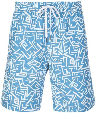 Onia Tribal Masks swim shorts