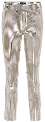 Isabel Marant Novida metallic leather pants
