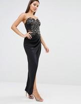Lipsy Michelle Keegan Loves Lace Wrap Maxi Dress