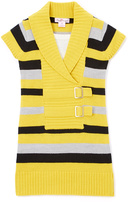 Pink Angel Forever Yellow Stripe Double-Buckle Sweater Dress - Girls