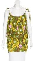 Mara Hoffman Silk Lizard & Floral-Print Tunic