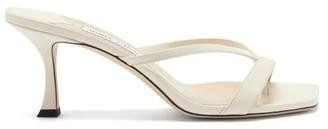 Jimmy Choo Maelie 70 Leather Sandals - White