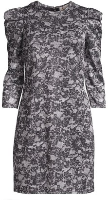 MICHAEL Michael Kors Lace Print Sparkle Mini Dress