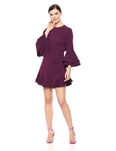 LIKELY Women's Sammy Crepe Ruffle Trim Cocktail Dress