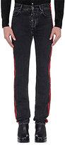 Balenciaga Men's Coated-Stripe Jeans