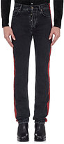 Balenciaga Men's Coated-Stripe Straight Jeans