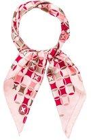 Louis Vuitton Monogram Fleur Silk Scarf