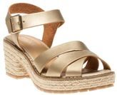 Sole New Womens Metallic Tahiti Synthetic Sandals Espadrilles Buckle