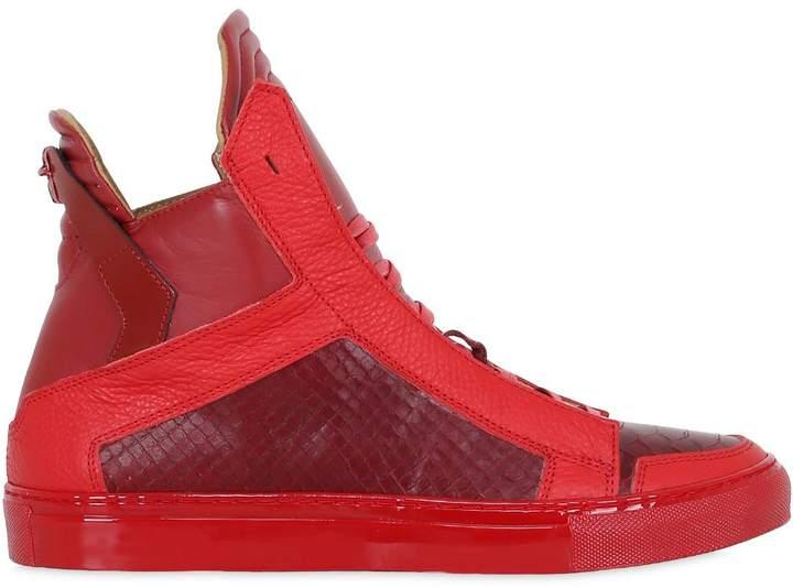 Ylati Handmade Leather High Top Sneakers