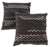 Neiman Marcus Pair of Beaded Herringbone Throw Pillows