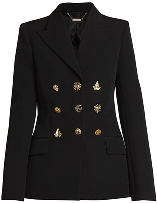 Givenchy Structured Mixed Button Wool Jacket