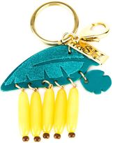 Sophie Hulme banana leaf keyring - women - Calf Leather/Acrylic/Brass - One Size