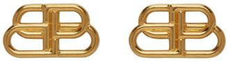 Balenciaga Gold Small BB Stud Earrings
