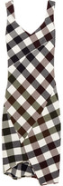 Victoria Beckham Gingham Stretch-knit Dress - Burgundy