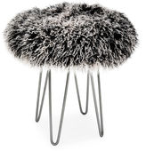 Le-Coterie Curly Hairpin 16 Stool, Black/White