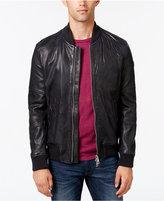 HUGO BOSS Orange Men's Leather Bomber Jacket