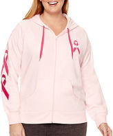 JCPenney Made For Life Breast Cancer Awareness French Terry Hoodie - Plus
