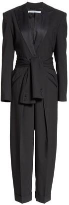 Alexander Wang Black Tie Waist Tuxedo Jumpsuit