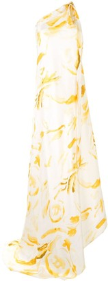 Cult Gaia Florence silk evening dress
