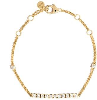 Riviera 18kt yellow gold diamond bracelet