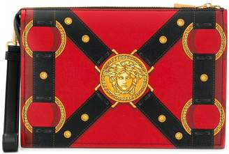 Versace Harness print clutch