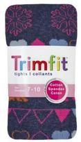 TrimFit Girls' Fair Isle Pattern Tights