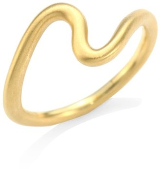 N. Brushstroke 18K Yellow Gold 2 Ring