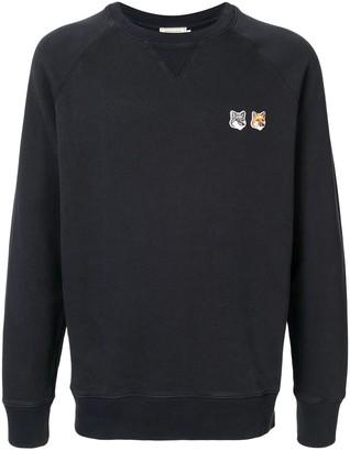 MAISON KITSUNÉ Double-Logo Cotton Sweatshirt