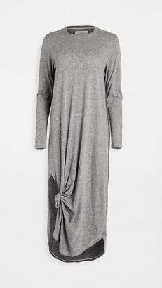 The Great Long Sleeve Knotted Tee Dress