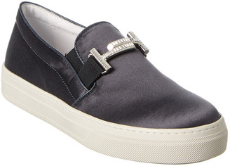 Tod's Double T Satin Slip-On Sneaker