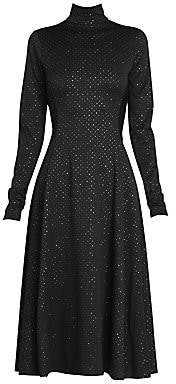 Marc Jacobs Women's Runway Glitter Print Crepe Jersey Midi Dress - Size 0
