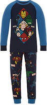 Marvel Children's Printed Pyjamas, Navy