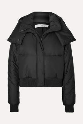 Off-White Off White Appliqued Quilted Shell Hooded Jacket - Black