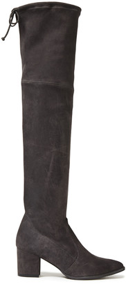Stuart Weitzman Thighland Paneled Suede Over-the-knee Boots