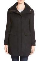 Women's Cole Haan Signature Stand Collar Wool Blend Coat