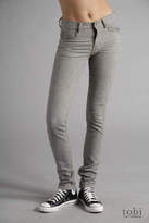 Tight Skinny Jeans in Green Grey Slub