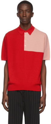 Paul Smith Red and Pink Knit Polo