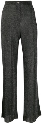 Alanui Sheer Glitter Knit Trousers