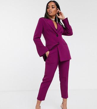 ASOS DESIGN Petite pop slim suit trousers in purple