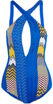 Missoni Mare Crochet-knit Swimsuit - Bright blue