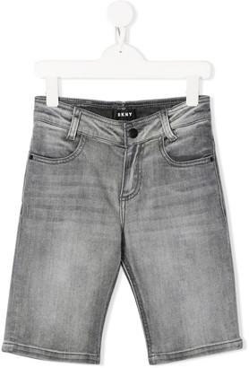DKNY Slim-Fit Denim Shorts